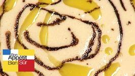 Crème de haricots tarbais glacée, tartine de confit de canard