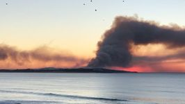 Plume of Smoke Seen From Cronulla's Elouera Beach