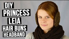 DIY Princess Leia Hair Buns Headband