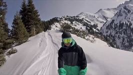 Dad Captures Freeride Adventure Through Kazakhstan Ski Resort on GoPro