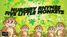 Five Little Monkeys Jumping On The Bed Nursery Rhyme - Songs For Children - Baby Songs - Animation