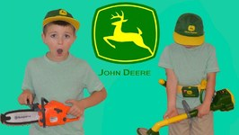 Little Heroes John Deere Power Trimmer Unboxing  Husqvarna Chainsaw Unboxing and Review