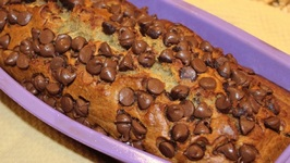 Bread / Banana Bread With Chocolate Chips On Top