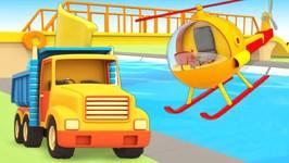 Helper Cars for Kids Build a Bridge: A Bulldozer, a Crane for Kids, & a Truck for Kids
