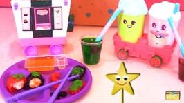 Goldie Star Making DIY Real Gummy Candy Food & Eats Foodie Surprise Sushi  Tea