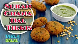 Suran/Yam Chana Dal Tikkis