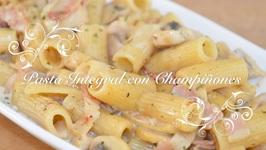 Pasta Integral Con Champiaones / Pasta Con Champiaones / Pasta Integral Recetas / Recetas De Pasta
