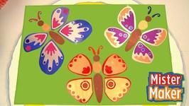 Giant Glitter Butterflies