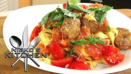 Cheats Meatballs With Tagliatelle Pasta