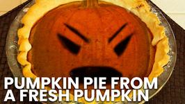 Pumpkin Pie From A Fresh Pumpkin