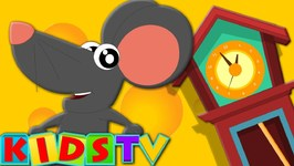 Hickory Dickory Dock - Nursery Rhyme For Toddlers - Cartoon Animation Rhymes