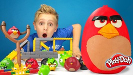Angry Birds Play-Doh Surprise Egg With Hot Wheels Track And Angry Birds Knex Build