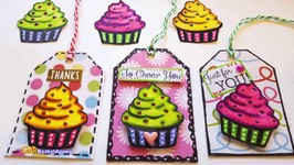 Cupcake Gift Tags  Coloring With Tombow Markers