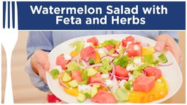 Watermelon Salad With Feta And Herbs