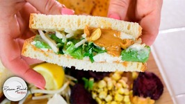 Vegan - Gluten Free Healthy School Lunch - Pad Thai Sandwich