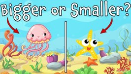 Bigger or Smaller - Ocean Animal Guessing Game for Kids