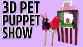 3D Pet Puppet Show Craft Kit - Mister Maker