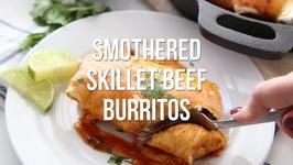 Smothered Beef Skillet Burritos