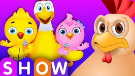 Chicken Daddy Saves his Little Chicks from Bad Guys - ChuChu TV Surprise Eggs Funny Cartoon Shows