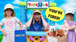 Kids Make SILLY Fake Toys R US Workers !!!