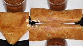 Quinoa Oat Lentil Dosa Crepe -Indian Pancake