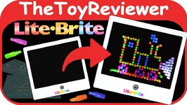 Lite-Brite Retro Deluxe Classic Peg Board Light-Up Game Unboxing Toy Review