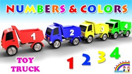 Learn Numbers And Colors For Kids With Toy Truck - Videos For Children And Kids