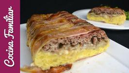 Pastel de carne y tortilla de patata, receta de pastel salado  Recetas de Javier Romero