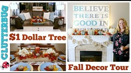 Dollar Tree Fall Decor Haul & Home Tour