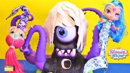 Shimmer and Shine Mermaids vs PJ Masks Lunapus Luna Girl GENIE GEMS  Surprise Toys Episodes