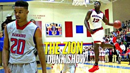 Zion Williamson CRAZY Windmill vs Isaiah Washington - Not JellyFam in Home Opener - EASY DoubleDouble