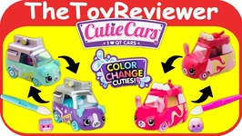 Shopkins Color Change Cutie Cars Speed Camera Marble Motor Unboxing Toy Review by TheToyReviewer