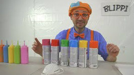 Blippi Painting Giveaway - Learn Colors With Paint