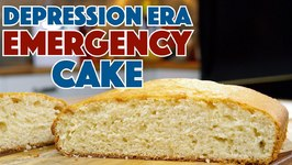 1930's Emergency Cake Depression Era Recipe