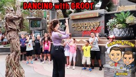 DANCING with GROOT - DISNEY CALIFORNIA ADVENTURE - PIXAR PIER - D and D VLOGS