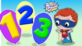 Numbers Adventure 1 To 20 Bottle Squad - Superhero Cartoons - Numbers Song - Numbers For Kids
