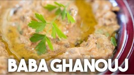 Baba Ghanouj - Eggplant Dip - Vegan Vegetarian