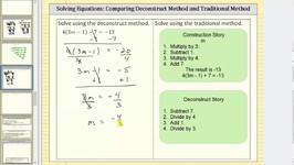 Solve an Equation: Deconstruct Method and Traditional Method II