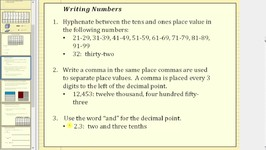 Read and Write Decimals