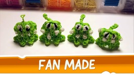 Om Nom from Cut the Rope - Rainbow Loom