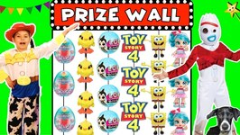 Toy Story 4 GIANT CARNIVAL PRIZE WALL GAME w/ Toy Story 4 Movie Toys
