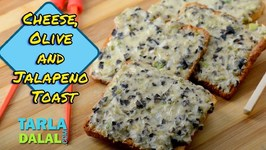 Cheese Olive And Jalapeno Toast