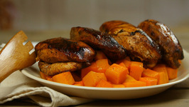 Sriracha-Glazed Chicken with Paprika Butternut Squash