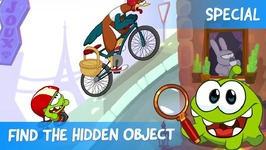 Find the Hidden Object Ep 13 - Om Nom Stories- Cycle Race