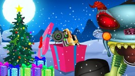 The Mysterious Gift Boxes  Haunted House Monster Truck  Christmas Videos by Kids Channel