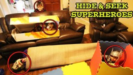 HIDE and SEEK INDOORS with SUPERHEROES