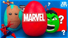 Marvel Hulk Superhero Play-Doh Surprise Egg With Avengers Toys And Spiderman Toys