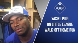 Yasiel Puig On Little League Walk-Off Home Run