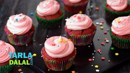 Red Velvet Cupcake - Eggless Red Velvet Cupcake