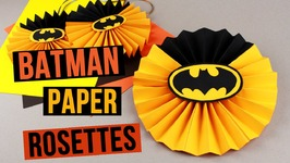 DIY Batman Party Decorations  Paper Rosettes